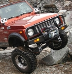 ZOR Front Winch Bumper featuring Headlight Corner Protection.